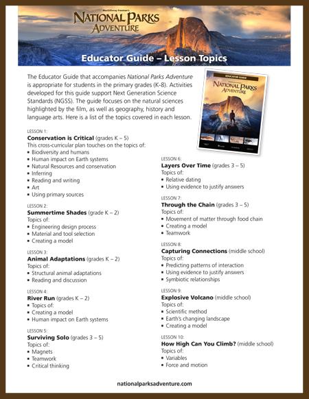 National Parks Adventure - Marketing Tools